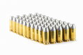 .45 acp semiwadcutter bullet isolated on white background stac Royalty Free Stock Photo