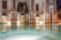 Acqua paola fountain in rome called in the night Stock Photos