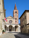 Acqui Terme Romanesque cathedral Royalty Free Stock Photo