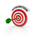 Acquisition dart and target with text Royalty Free Stock Images