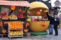 Acre akko israel isr dec fresh citrus fruit stand on dec exported mostly citrus fruit at it s establishment in today agricultural Royalty Free Stock Images
