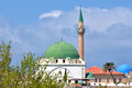 Acre akko old city port israel jezzar pasha white mosque in Stock Photos