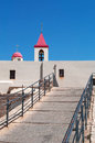 Acre israel middle east a ramp and the bell tower of saint john s church in on september st john s church belongs to the Royalty Free Stock Photos
