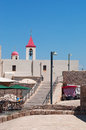 Acre israel middle east a ramp and the bell tower of saint john s church in on september st john s church belongs to the Royalty Free Stock Images