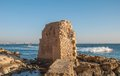 Acre ruins of an ancient fortress in the port of in israel Royalty Free Stock Photography