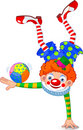 Acrobat Clown Stock Photo