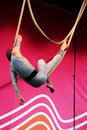 Acrobat on stage Royalty Free Stock Photo