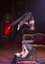 Acrobat women at circus Royalty Free Stock Photo
