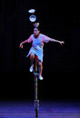 Acrobatic bowl in september the jiangxi troupe to perform acrobatics party our life is sweeter than honey staged in jiangxi Stock Photo