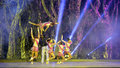 Acrobatic dance of xiamen lingling circus amoy city china Royalty Free Stock Photography
