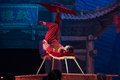 Acrobatic juggling with the feet acrobatic showbaixi dream night baixi tells story of beginning of last century a class troupe and Stock Images