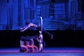 Acrobatic jump ring in september the jiangxi troupe to perform acrobatics party our life is sweeter than honey staged in jiangxi Royalty Free Stock Image