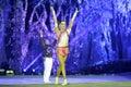 The acrobatic pas de deux dance of xiamen lingling circus amoy city china Stock Image