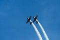 Acrobatic planes Royalty Free Stock Photo