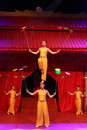Acrobatics china in performance stage Stock Images