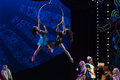Acrobatics at high altitude acrobatic showbaixi dream night baixi tells the story of the beginning of the last century a class Stock Photos