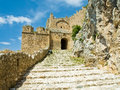 Acrocorinth fortress gate Royalty Free Stock Photography