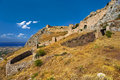 Acrocorinth greece the acropolis of ancient corinth fortified citadel formed on the top of monolithic rock there is the corinthian Stock Image