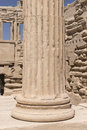 Acropolis Architectural Column Detail Royalty Free Stock Photo