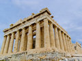 Acropolis of Athen with Parthenon Temple Stock Photo