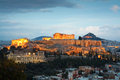 Acropolis athens as seen from filopappou hill Royalty Free Stock Photo