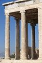 Acropolis of Athens. Erechtheion columns. Greece Royalty Free Stock Photo