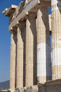Acropolis of Athens. Parthenon columns. Greece Royalty Free Stock Photo