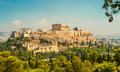 Acropolis of athens view at the Royalty Free Stock Image