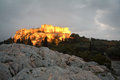 Acropolis athens view of at night Stock Images