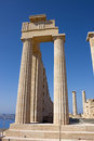 Acropolis of Lindos Stock Images