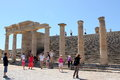 Acropolis of Lindos Royalty Free Stock Photo