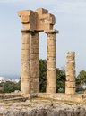 Acropolis at monte smith hill in rhodes town greece of old of Royalty Free Stock Image
