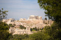 Acropolis sunny summer day greek center monoument hestoric build Royalty Free Stock Photography