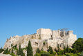 Acropolis view of from areipagus hill athens greece Royalty Free Stock Images