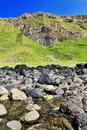 Across port noffer to the organ pipes giants causeway antrim coast northern ireland is most popular Royalty Free Stock Photo