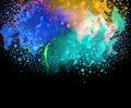 Acrylic colors and ink in water. Abstract background. Royalty Free Stock Photo