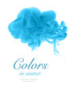 Acrylic colors in water abstract background Royalty Free Stock Photography