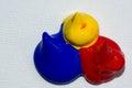 Acrylic colours acryl on canvas photo taken as close up Stock Photos