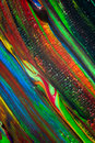 Acrylic colours acryl on canvas photo taken as close up Royalty Free Stock Photos