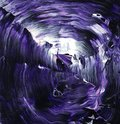 Acrylic fluid art in purple Royalty Free Stock Photo