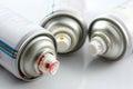 Acrylic lacquer spray on white Stock Photos