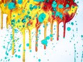 Acrylic Modern Painting Details with Vibrant Contrast