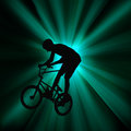 Action bicycle rider abstract of a Stock Photos