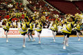 Action championship cheerleading Royaltyfri Bild