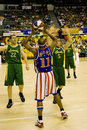 Action de basket-ball de Globetrotters de Harlem Photographie stock