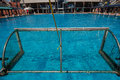 Action de piscine d eau polo Images libres de droits