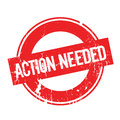 Action Needed rubber stamp