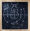 Tactic Blackboard Chalkboard Teamwork Action Royalty Free Stock Photo