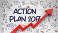 Action Plan 2017 Drawn on Brick Wall.