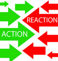 Action and reaction Royalty Free Stock Photo